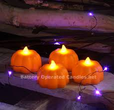 led pumpkin tea lights battery operated candle impressions pumpkin led tealights set of 4