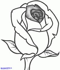 rose drawing for kids how to draw a rose easy step step drawing