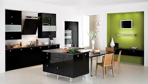 kitchen designs ideas with white cabinets and black appliances