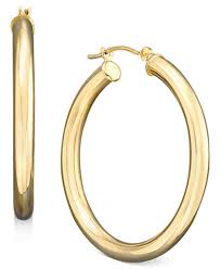 hoop earring polished hoop earrings in 14k gold earrings jewelry watches