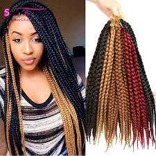 medium box braids with human hair brown medium sized box braids