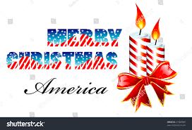 merry usa flag style greetings stock illustration