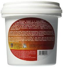 amazon com meeco u0027s red devil 610 refractory cement indoor use