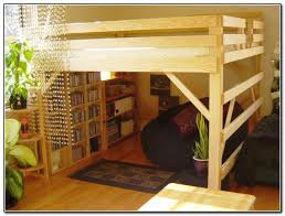 Fascinating Pallet Bunk Beds 17 Pallet Loft Beds How To Build by Rustic Loft Bed With Stairs With Bookshelf At The Bottom