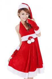 mrs santa claus costume 26 78 belt halter mrs santa claus costume for sale