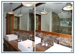 Galvanized Bathroom Lighting Galvanized Warehouse Shades Steal Spotlight In Bath Remodel Blog