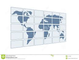 3d Map Of The World by 3d Map Of The World On Transparent Screens Stock Photo Image