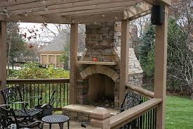 outdoor fireplaces fire pits kansas city kansas ks deck fireplace