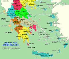 greece map political map of the islands of greece