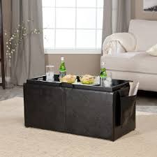 Blue Ottoman Coffee Table Coffee Table Awesome Square Leather Ottoman Padded Coffee Table