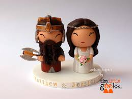 lord of the rings cake topper wedding cake topper lord of the rings cake topper gimli