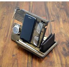 nightstand anniversary gift for men desk organizer nightstand