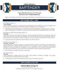 Sample Resume For Csr With No Experience by Bartender Resume No Experience Http Jobresumesample Com 755