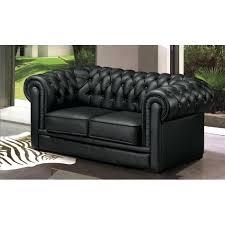 canap chesterfield noir salon chesterfield cuir canapac 2 places chesterfield cuir noir