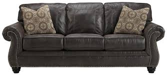 benchcraft breville faux leather queen sofa sleeper with rolled