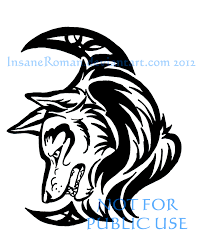 wolf and crescent tribal by insaneroman on deviantart