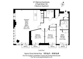 balmoral floor plan 3 bed flat to rent in balmoral apartments 2 praed street london