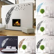 aliexpress com buy left right flying feather wall stickers home