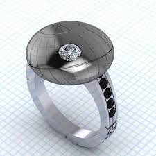 star wedding rings images Space station inspired jewelry death star engagement ring jpeg