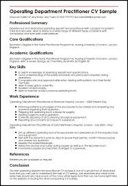 Nurse Practitioner Resume Examples by Operating Department Practitioner Cv Sample Myperfectcv