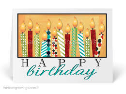Holiday Business Cards Birthday Candles Greeting Card 3899 Harrison Greetings