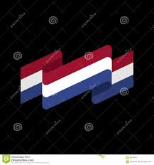 Dutch Flag Emoji Netherlands Flag Ribbon Isolated Dutch Tape Banner National Sy