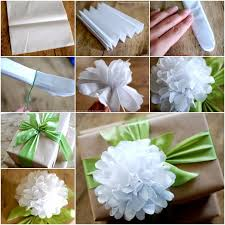 how to use tissue paper in a gift box wonderful diy tissue paper flower gift top