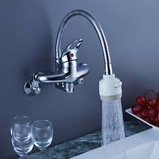 wall faucets kitchen chrome finish brass kitchen faucet with spout wall mount