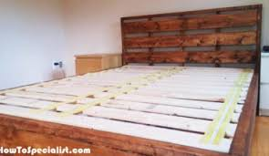 Diy Queen Platform Bed Frame - diy floating bed frame howtospecialist how to build step by
