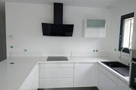 cuisine blanc brillant cuisine blanc brillant top cuisine blanc brillant et plan quartz