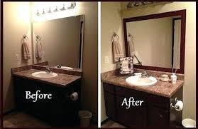 bathroom mirror trim ideas framing bathroom mirror improve the value of your bathroom with
