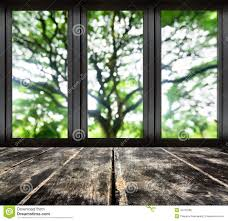 black metal window with blur tree view stock photo image of room