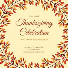 thanksgiving invitations tutornow info