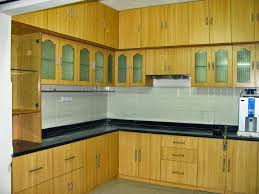 Wall Kitchen Cabinets With Glass Doors Kitchen Furniture Kitchen Brown Polished Teak Wood Kitchen