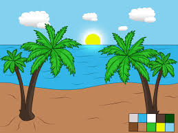 How To Draw The Usa Map by How To Draw A Beach Scene 6 Steps With Pictures Wikihow