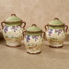 grape kitchen canisters vino grapes airtight kitchen canister set