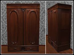 second life marketplace re carved wood armoire one prim