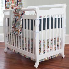 Mini Portable Crib Bedding Sets Coastal Portable Crib Bedding Carousel Designs