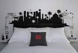 headboard wall art creating art in black and white wall designs home design layout