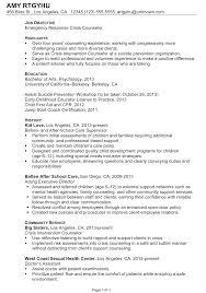 mental health counselor job description resume free resume