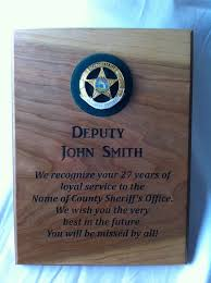 retirement plaque items similar to enforcement service retirement plaque with