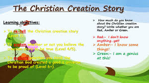 genesis the christian creation story by re4all teaching