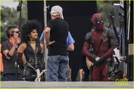 zazie beetz u0026 ryan reynolds film u0027deadpool 2 u0027 together