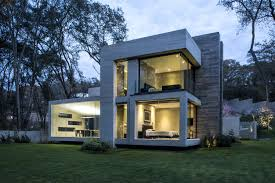M M Landscaping concrete house designed by the mexican firm grupo mm mexico