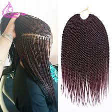packs of kanekalon hair kanekalon afro twist crochet braids synthetic braiding hair
