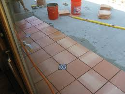 Outside Tile For Patio Laying Saltillo Terra Cotta Tiles Outdoors Isthisgoodorwhat