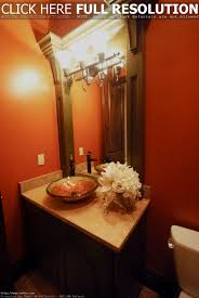 Decorating Powder Rooms White Gloss Round Ceramic Vessel Sink Powder Room Designs Small