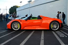 red porsche 918 porsche 918 in orange autos