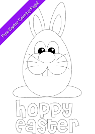 easter bunny coloring page free printable