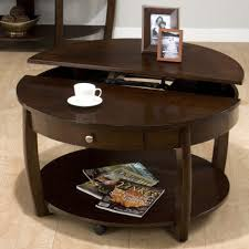 Display Coffee Table Coffee Tables Astonishing Round Coffee Tables With Storage